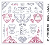 vector vintage signs  symbols ... | Shutterstock .eps vector #1008042283