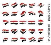 egypt flag  vector illustration   Shutterstock .eps vector #1008043993