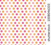 elegant watercolor  polka dot ... | Shutterstock . vector #1008046333