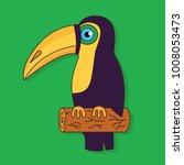 toucan colorful junle bird... | Shutterstock .eps vector #1008053473