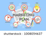 marketing plan concept.... | Shutterstock . vector #1008054637