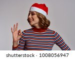 young woman smiling in a...   Shutterstock . vector #1008056947