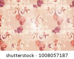 vintage rose flowers and... | Shutterstock .eps vector #1008057187