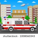 ambulance car. emergency... | Shutterstock .eps vector #1008060343