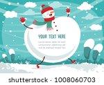 vector illustration of winter...   Shutterstock .eps vector #1008060703