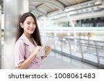 young asian business owner...   Shutterstock . vector #1008061483