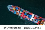 top view container cargo ship... | Shutterstock . vector #1008062467