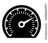 speedometer icon. simple... | Shutterstock .eps vector #1008063997