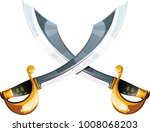 two curves crossed pirate...   Shutterstock . vector #1008068203