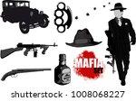 a small set of gangster...   Shutterstock . vector #1008068227