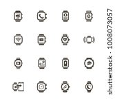 smart watch icons. perfect... | Shutterstock .eps vector #1008073057