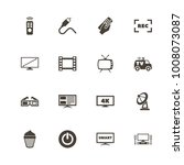 tv icons. perfect black... | Shutterstock .eps vector #1008073087