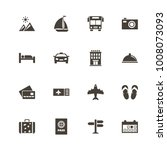 travel icons. perfect black... | Shutterstock .eps vector #1008073093