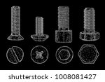 metal bolts and screws. hand... | Shutterstock . vector #1008081427