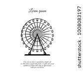 ferris wheel icon | Shutterstock .eps vector #1008083197