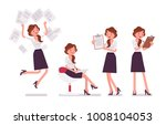 sexy secretary busy with... | Shutterstock .eps vector #1008104053