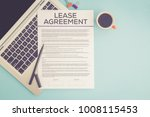 lease agreement concept | Shutterstock . vector #1008115453