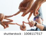 ant view of female hand putting ...   Shutterstock . vector #1008117517