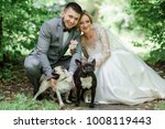 bride and groom play with... | Shutterstock . vector #1008119443