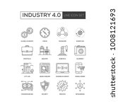 industry 4.0 line icon set | Shutterstock .eps vector #1008121693