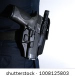 Police Officer  Carrying Pisto...
