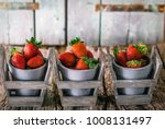 fresh fruit. strawberries on... | Shutterstock . vector #1008131497