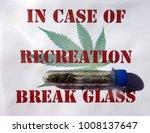 sign with marijuana cigarette... | Shutterstock . vector #1008137647