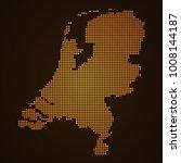 pixel mosaic glow orange dot...
