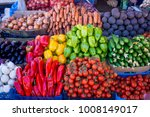 various colorful raw vegetables.... | Shutterstock . vector #1008149017