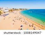 albufeira beach on the algarve  ... | Shutterstock . vector #1008149047