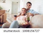 young couple relaxing in their... | Shutterstock . vector #1008156727