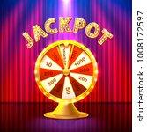 fortune casino jackpot  modern... | Shutterstock .eps vector #1008172597