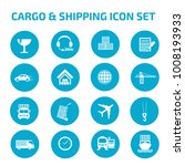 cargo and shipping icon set | Shutterstock .eps vector #1008193933