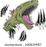 Velociraptor Dinosaur Vector...