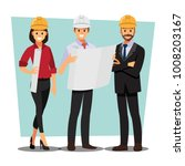 technician and builders and... | Shutterstock .eps vector #1008203167