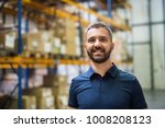 portrait of a male warehouse... | Shutterstock . vector #1008208123