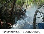 Riding Airboat Thru Mangroves...