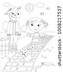 the wizard of oz. little girl... | Shutterstock .eps vector #1008217537