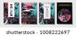 minimal modern cover template.... | Shutterstock .eps vector #1008222697