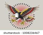 vector american eagle... | Shutterstock .eps vector #1008236467