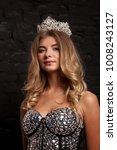 portrait of a pretty blonde... | Shutterstock . vector #1008243127
