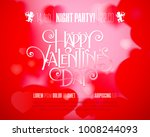 valentines day party flyer with ... | Shutterstock .eps vector #1008244093