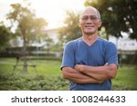 confident asian senior male... | Shutterstock . vector #1008244633