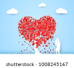 happy valentines day heart tree ... | Shutterstock .eps vector #1008245167