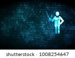 learning concept  pixelated...   Shutterstock . vector #1008254647
