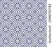italian tile pattern vector... | Shutterstock .eps vector #1008256783