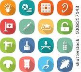 flat vector icon set   bulb... | Shutterstock .eps vector #1008257143