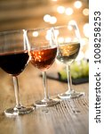 three glass of white red and... | Shutterstock . vector #1008258253