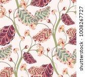 bright oriental seamless leaf...   Shutterstock .eps vector #1008267727
