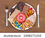 food containing sugar on a... | Shutterstock . vector #1008271333